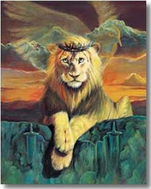 Lion of Judah, (Prophetic Print-Size 13 x 17 ) William Hallmark